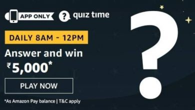 Photo of Amazon 10th Feb 2020 Quiz Answers: Play And Win 50000 Rs
