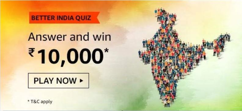 Amazon Better India Quiz Answer