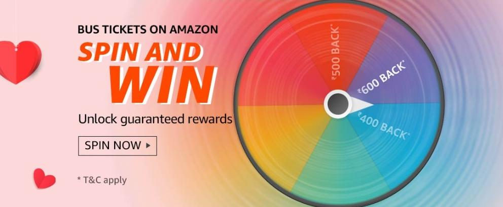 Amazon Bus Tickets Spin And Win