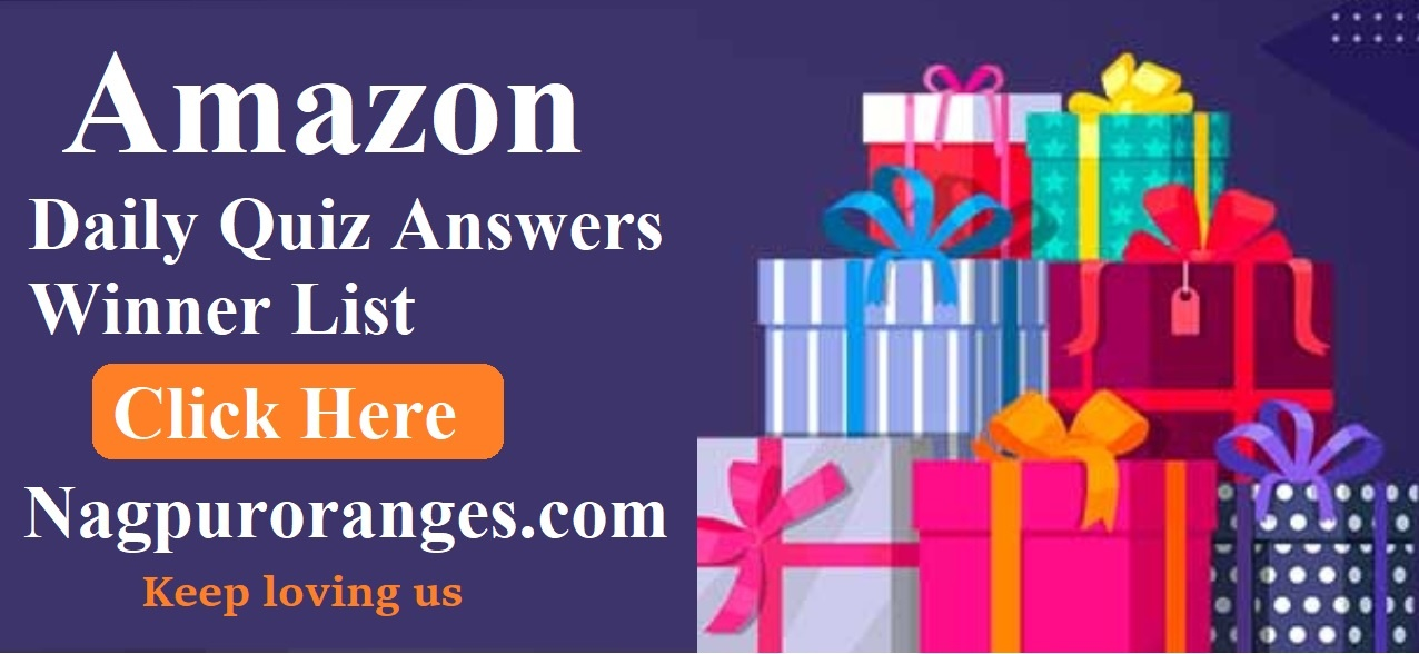 Amazon Daily Quiz Winner List