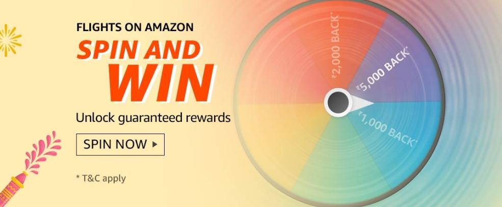 Amazon Flight Spin And Win