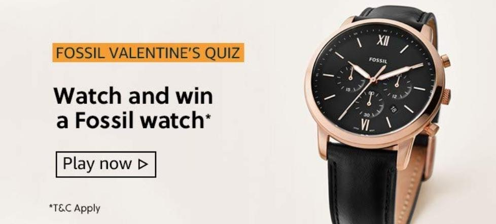 Amazon Fossil Valentines Quiz