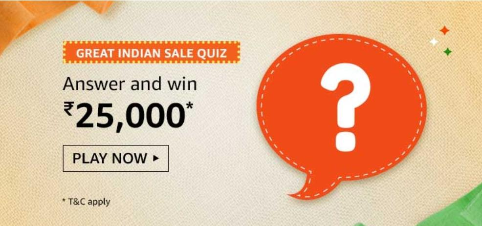 Amazon Great Indian Sale Quiz Answers