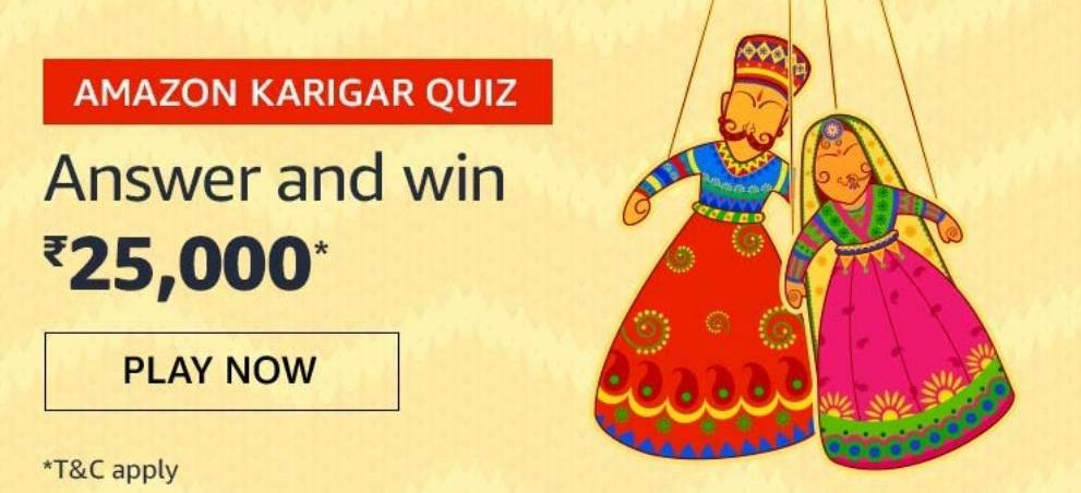 Amazon Karigar Quiz Answers