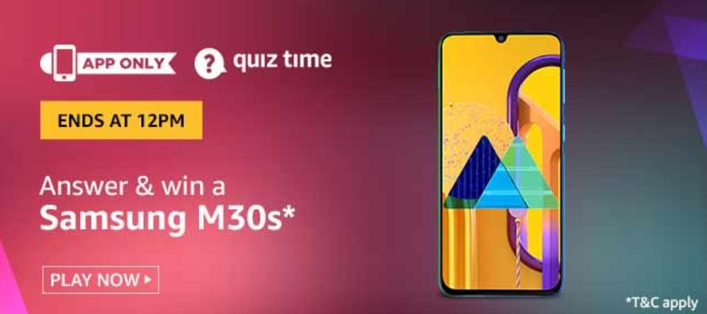 Amazon Quiz 08th Jan 2020 Quiz Answers