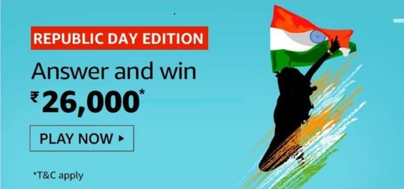 Amazon Republic Day Edition Quiz Answers