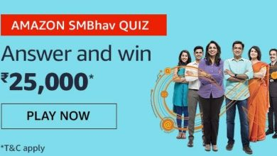Photo of Amazon SMBhav Quiz Jan 2020 – Answer And Win Rs 25000 Pay Balance ( 4 Prizes)