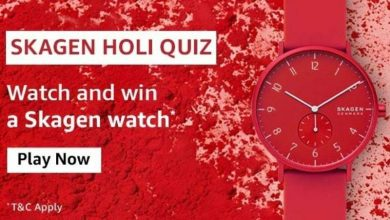 Photo of Amazon Skagen Holi Quiz Answers : Play And Win Skagen Watch (10 Prizes)