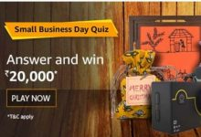 Photo of Amazon Small Business Day Quiz 2019 – Answer And Win 20000 Rs Amazon Pay Balance