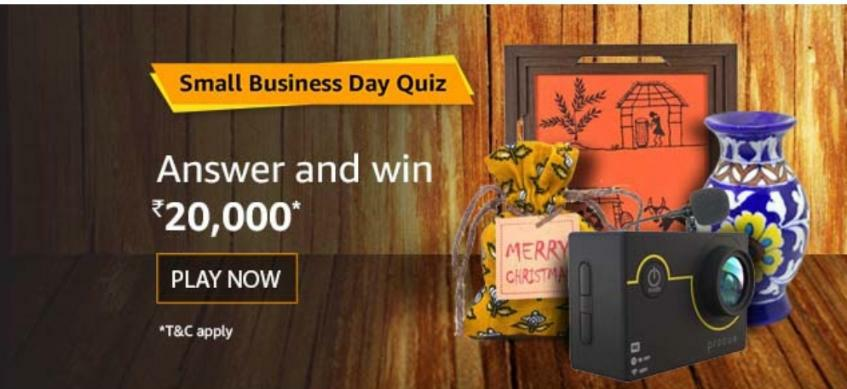 Amazon Small Business Day Quiz Answer