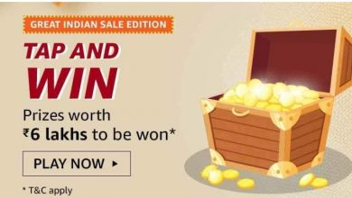 Photo of Amazon Great Indian Sale Edition Tap and Win Quiz Answers Win Prizes Worth Rs.6 Lakhs