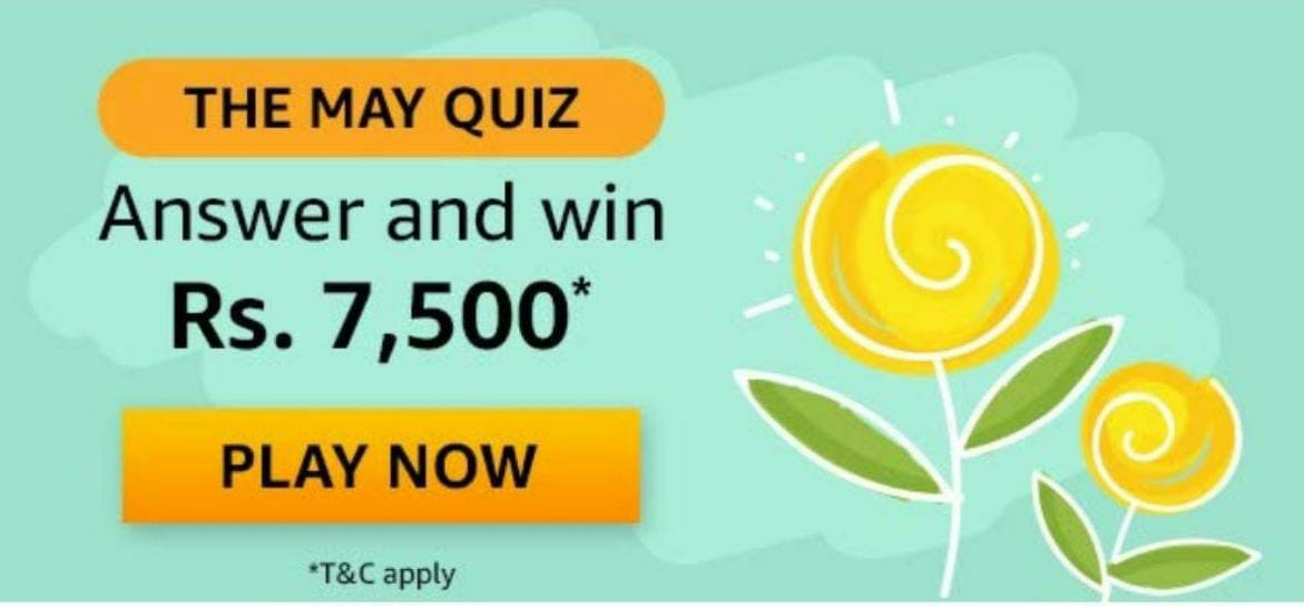 Amazon The May Quiz Answers