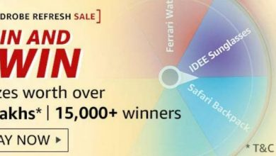 Photo of Amazon Wardrobe Refresh Sale Spin & Win Quiz – Prizes Worth ₹3L | 15000+ Winners