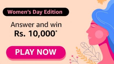 Photo of Amazon Women's Day Edition Quiz Answers : Play And Win 10000 Pay Balance