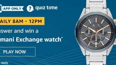 Photo of Amazon 03 March 2020 Quiz Answers – Play And Win Armani Exchange Watch