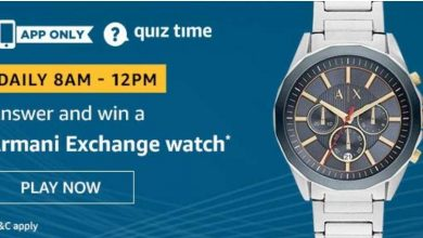 Photo of Amazon Quiz 3rd December 2019 – Answers And Win Armani Exchange Watch