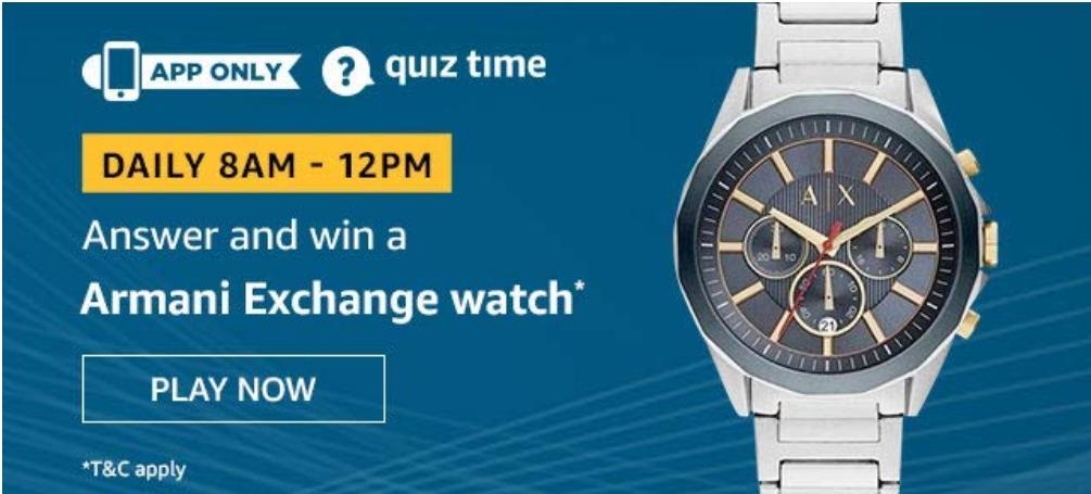 Armani Exchange Watch Quiz Answer