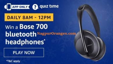 Photo of Amazon Quiz 21th December 2019 – Answers And Win Bose 700 Bluetooth Headphone