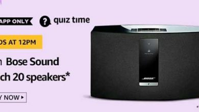 Photo of Amazon 24th Mar 2020 Quiz Answers: Play And Win Bose Sound Touch 20 Speakers