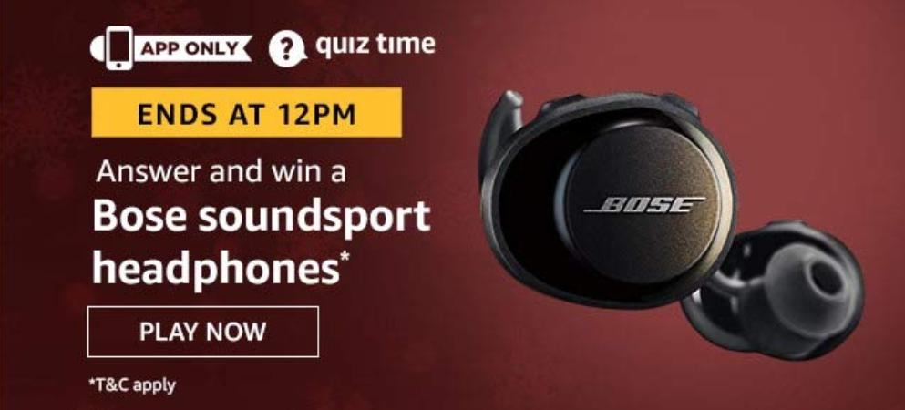 Bose Soundsport Headphone Amazon Quiz Answers