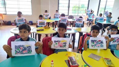 Photo of City School -The Achievers School Holds Collage making Competition