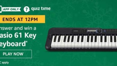 Photo of Play Amazon Quiz And Win Casio 6 Key Keyboard : 24 Jan 2020 (1 Prizes)