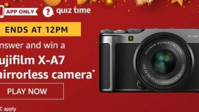 Photo of Amazon Quiz Answers Win Fujifilm X-A7 Mirrorless Camera, Today 21 January 2020
