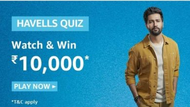 Photo of Amazon Havells Quiz December 2019 – Answer And Win Rs 10000 Pay Balance