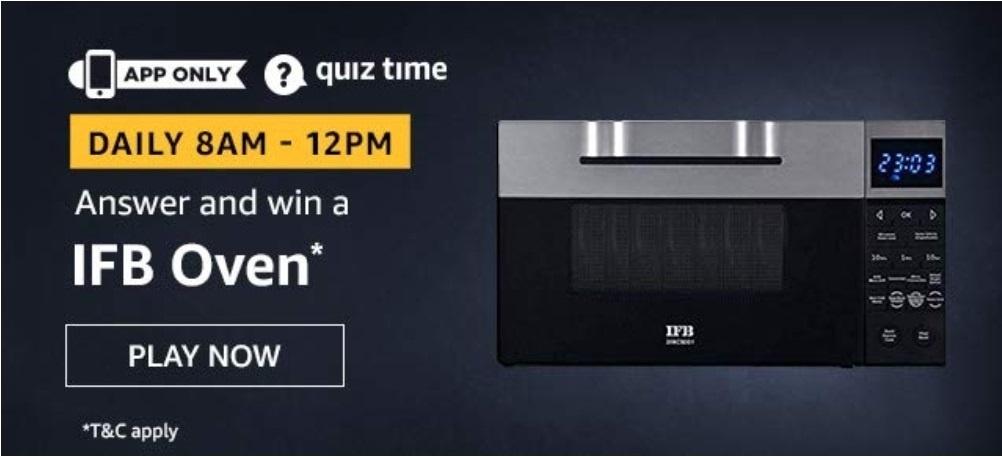 IFB Oven Amazon Quiz