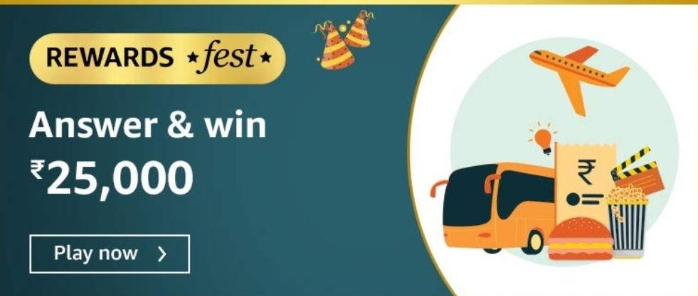 Amazon Rewards Fest Quiz Answers