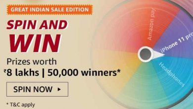 Photo of Amazon Great Indian Sale Edition Spin And Win Quiz – Answers And Win Prize Worth 8 lakhs (50,000 Winners )