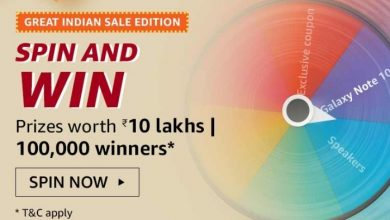 Photo of Amazon Great Indian Sale Edition Spin and Win Quiz Answers Win Prizes Worth Rs.10 Lakhs (1lk Prizes)