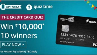 Photo of Amazon The Credit Card Quiz Answers : Play And Win Rs 10,000