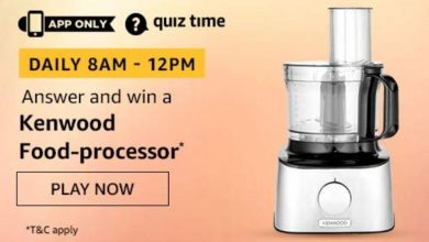 Photo of Play Amazon Quiz And Win Kenwood Food-Processor – 08 Feb 2020 (1 Prize)
