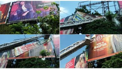 Photo of NMC goes tough on City Advertisers as they remove Hoardings at Central Railway premises
