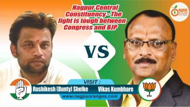 Photo of Congress Candidate – Rushikesh (Bunty) Shelke Vs. BJP candidate -Vikas Shankarrao Kumbhare in Nagpur Central – the fight is tough