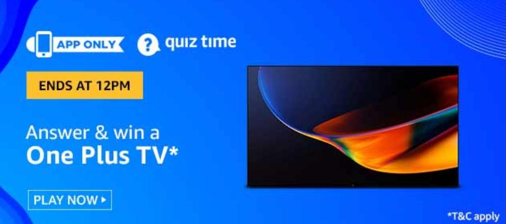 One Plus TV Amazon Quiz Answers