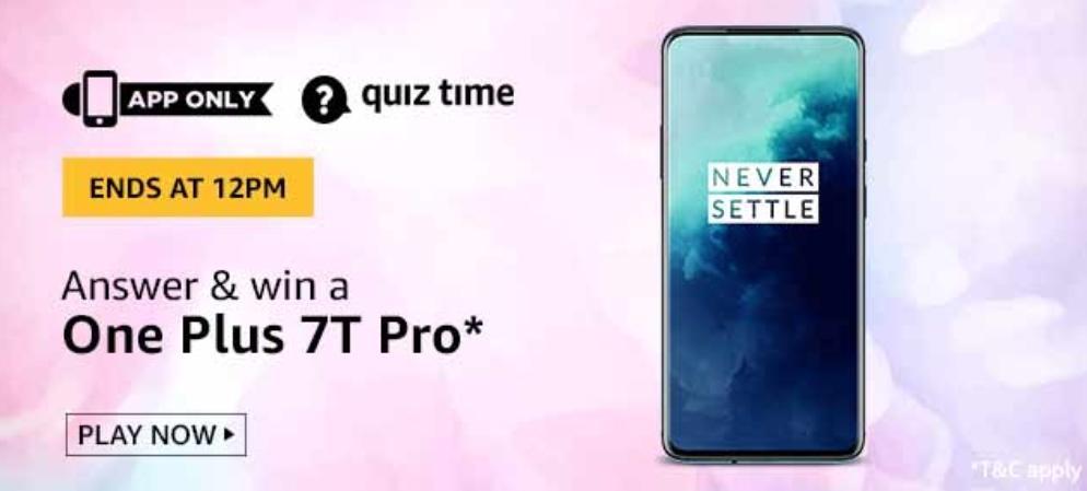 OnePlus 7T Pro Amazon Quiz
