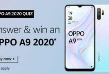 Photo of Amazon Quiz December 2019 – Answers And Win Oppo A9 2020