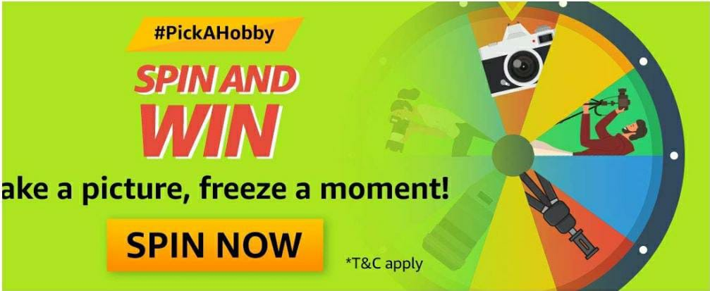 Pick A Hobby Spin And Win Quiz