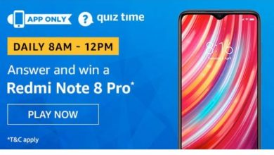 Photo of Amazon Quiz 27th November 2019 – Answers And Win Redmi Note 8 Pro