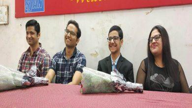 Photo of City Journalists Body felicitated chess prodigy Raunak Sadhwani