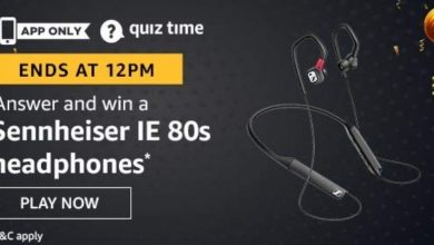 Photo of Amazon Quiz Time – Answer And Win Sennheiser IE 80s Headphone
