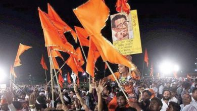 Photo of Shiv Sena Party Workers in Nagpur Celebrate their victory