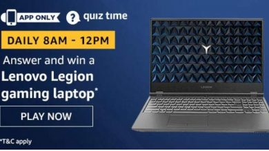 Photo of Amazon Quiz 22nd November 2019 Answers And Win Amazon Lenovo Legion Laptop