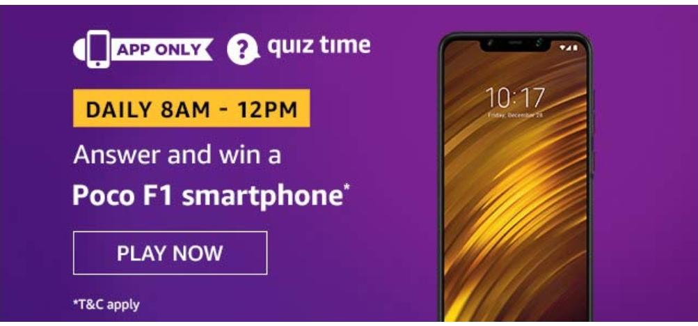 Amazon Quiz 24 Nov - Poco F1