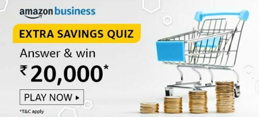 Amazon Extra Savings Quiz