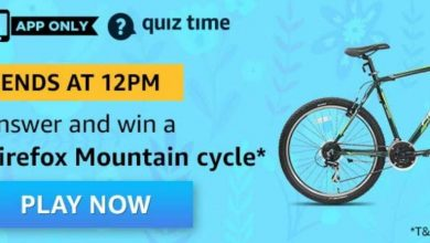 Photo of Amazon 03rd April 2020 Quiz Answers: Play And Win Firefox Mountain Cycle