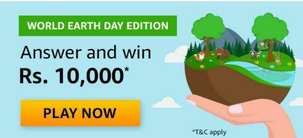 Amazon World Earth Day Quiz Answers