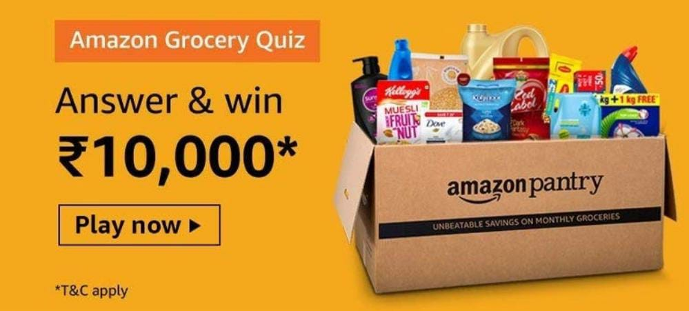Amazon Pantry Grocery Quiz Answer